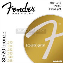 Encordado Fender 70xl Extra Light Para Guitarra Acustica