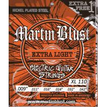 Encordado Cuerdas Martin Blust Xl110 Guitarra Eléctrica 009