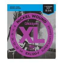 Encordado Daddario Guitarra Eléctrica Exl120-7 7 Cuerdas