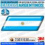 Calcomanias,bandera Argentina M C/resina, Domes Resinados 3d