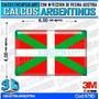 Calcomanias, Stickers, Domes Con Relieve Bandera Vasca