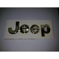 Insignia Jeep Dorada Autoadhesiva
