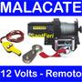 Malacate Electrico Con Control Remoto 12 V 2000 Lbs 907 Kgs