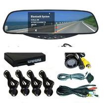 Monitor Lcd Espejo Camara Sensor De Estacionamiento Alarma