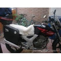 Cuero Oveja Cordero Cubre Asiento De Moto Universal