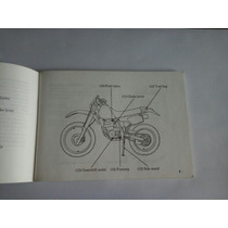 Manual De Usuario / Mantenimiento De Honda Xr 250r 1993