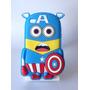 Funda Silicona 3d Minion Capitan America Ipod Touch 4