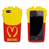 Funda Silicona 3d Ipod Touch 4g 5g Moschino Papa Frita +film