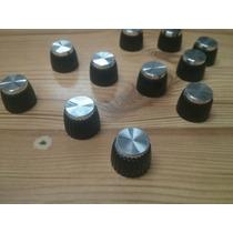 Perilla Marshall Para Amplificador Aluminio Plateadas
