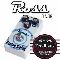 Ross Dly-503 - Pedal De Efectos P/guitarra Delay Analogo