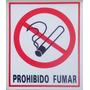 Cartel Prohibido Fumar Alto Impacto 22x26 Cm Moron