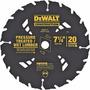 Disco Sierra Circular Dewalt 7 1/4 184mm 20d Dw3174 - Fm