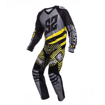 Conjunto Ls2 Motocross Team 2016 Buzo + Pantalon Negro/ama