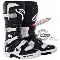 Botas Motocross Alpinestars Tech 7 Negro-blanco Moto Sur