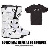 Botas Alpinestars Tech 3 Motocross Original Negro / Blanco
