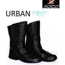 Botas Moto Urban Solco Con Protecciones Alto Impacto