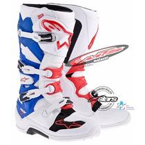 Bota Cros Enduro Alpinestars Tech 7 New Blanca-azul Moto Sur