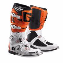 Botas Cross Sg 12 White/orange Gaerne - Team Motorace-