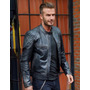Campera De Cuero David Beckham Motorcycle Talle M