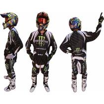 Conjunto Pantalon Y Buzo Motocross Monster Gama