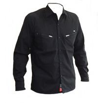 Camisa Manga Larga Con Respiracion Ls2 Pol Negra Motorbikes
