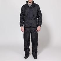 Conjunto Impermeable Ls2 Campera - Pantalon Negro /