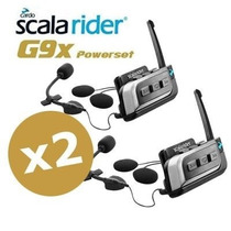 Intercomunicador Scala Riders G9x Kit Completo X 2 + Regalo
