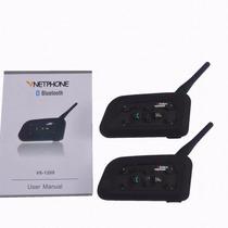 Intercomunicador Bluetooth Doble Para Cascos De Motos 1200m!