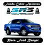Funda Cubre Asientos De Cuero Eco P/ford Ranger Cabina Doble