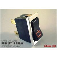 Renault 12 Break Tecla Llave Limpia Lava Luneta Original Okm