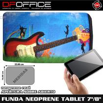 Funda De Neoprene Para Tablet 7 Diseño Guitarra