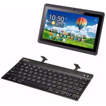 Teclado Bluetooth Recargable Funda Soporte Tablet Ipad Samsu