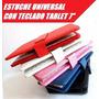 Funda Estuche Teclado 7 Conexion Micro Usb Tablet