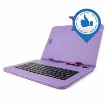 Funda Ecocuero Colores + Teclado Tablet 10 Pulgadas Microusb