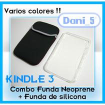 Combo Funda Neoprene + Funda Silicona Kindle 3 Córdoba