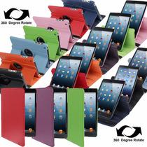 Funda Ipad Mini 1 2 3 Giratoria 360° Simil Cuero Colores
