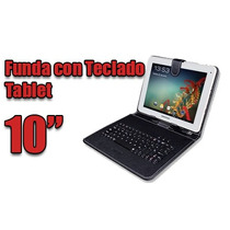 Funda Con Teclado Para Tablet Pc 10 Pulgadas Micro Usb