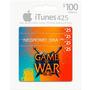 Itunes Gift Card 425 Para Compras En Game Of War Fire Age
