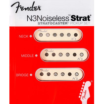 Microfonos Fender Stratocaster N3noiseless Setx3 Made In Usa
