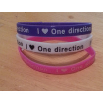 Pulseras One Direction 1d. Packs X 3. Imperdibles!! Colores