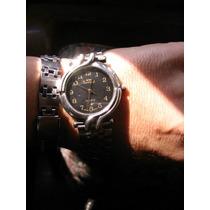 Reloj Unisex Cuarzo Lucida Fluor Cuadrante Negro
