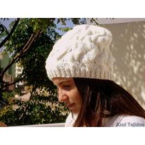 Gorro Modelo Cruces Boinas Sombreros Tejidos A Mano