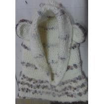 Gorro Con Cuellito Tejido Al Crochet