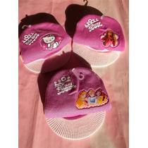 Gorros De Lana Con Barbie, Hello Kitty, Princesas Para Nena