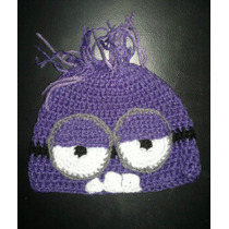 Minions Minnie Gorros Crochet Infantiles Para Bebes Miralos!