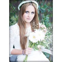 Corona Flores Blancas Casamientos Comunion Fiesta 15 Hippie
