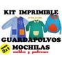 Kit De Moldes Y Patrones De Guardapolvos Y Mochilas 2x1