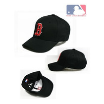 Gorras Mlb Boston Red Sox Flexfit Baseball Velcro Negra