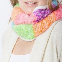 Clippate Bufanda Circular Tejida Colores Invierno Mujer