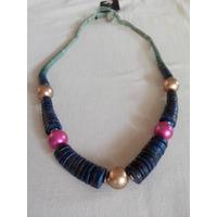 Collar Azul Madera Isadora